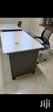 A.White Desk 1meter Without Drawer+Chair Ksh 10950 Free Delivery | Furniture for sale in Nairobi, Nairobi West