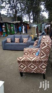 5 Seaters Sofa and a Wingback Chair | Furniture for sale in Nairobi, Ngara