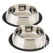 Anti Skid Stainless Steel Water Food Dog/Cat Feeding Bowls - 1 Pc | Pet's Accessories for sale in Nairobi, Nairobi Central
