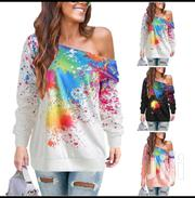 New Fashion Women Off Shoulder Long Sleeve Casual Top Pullover   Clothing for sale in Nairobi, Westlands