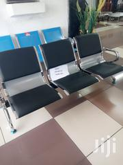 3 Seater Silver and Black Padded Receptionist Bench | Furniture for sale in Nairobi, Woodley/Kenyatta Golf Course