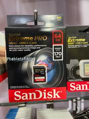Sandisk 64GB Extreme PRO UHS-I SDXC Memory Card | Accessories & Supplies for Electronics for sale in Nairobi, Nairobi Central