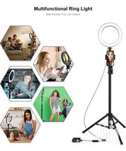 "8"" Selfie Ring Light With Tripod Stand & Cell Phone Holder For Live St 