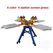 4 Color 4 Station Double Wheel Screen Printing Machine | Printing Equipment for sale in Nairobi, Nairobi Central