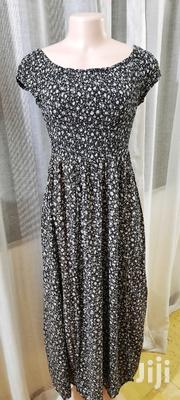 Black Floral Dress With Slitssize 8   Clothing for sale in Mombasa, Mkomani