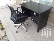 Black Desk 1meter+Chair Ksh. 12,500 With Free Delivery | Furniture for sale in Nairobi, Nairobi West