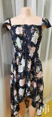 Beautiful Floral High-low Dress With Waist Cincher | Clothing for sale in Mombasa, Mkomani