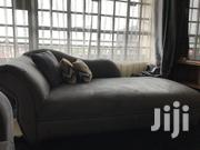 Mildy Used Sofa And Chaise Lounge Plus Free Puffs | Furniture for sale in Machakos, Syokimau/Mulolongo