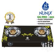 Nunix Tampered Glass Table Top Double Burner Gas Stove / Cooker | Kitchen Appliances for sale in Nairobi, Nairobi Central