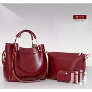Fashion Lady Handbags PU Leather 3 in 1 Set - Wine Red | Bags for sale in Nairobi, Westlands