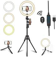 10 Inch Ring Light Two Phone Holders And A Remote Long Tripod | Accessories & Supplies for Electronics for sale in Nairobi, Nairobi Central