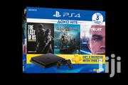 Starter Pack Slim: Sony Playstation 4 500GB Console - Black With 3 PS | Video Game Consoles for sale in Nairobi, Nairobi Central